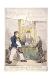 The Contractor and the Contracted, or 195 More Than 186, 1810 Giclee Print by William Heath
