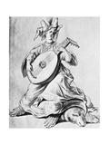 A Woman Playing a Stringed Instrument, Early 17th Century Giclee Print