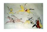 Sioux Warriors in Battle, C1890 Giclee Print