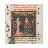 Miniature from a Manuscript of the Roman De La Rose by Guillaume De Lorris and Jean De Meun, 1353 Giclee Print