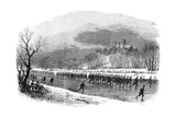 The First Lincolnshire Rifle Volunteers Taking a March Down the River Witham on Skates, 1861 Giclee Print
