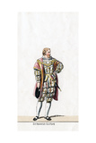 Sir Henry Guildford, Costume Design for Shakespeare's Play, Henry VIII, 19th Century Giclee Print