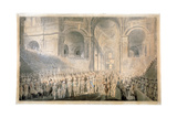 Service of Thanksgiving in St Paul's Cathedral, City of London, 1789 Giclee Print by Edward Dayes