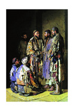 The Politicians in an Opium Shop. Tashkent, 1870 Giclee Print by Vasili Vasilyevich Vereshchagin
