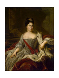 Portrait of Empress Catherine I, (1684-172), 1717 Giclee Print by Jean-Marc Nattier