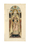 Eudoxia of Moscow (Study for Frescos in the St Vladimir's Cathedral of Kie), 1884-1889 Giclee Print by Viktor Mikhaylovich Vasnetsov