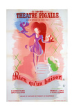 Poster for Just a Kiss, at the Théâtre Pigalle, Paris, 20th Century Giclee Print