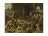 Allegory on the Abdication of Emperor Charles V in Brussels October 1555, 1642 Giclee Print by Frans Francken the Younger