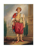 Portrait of Thomas Hope in Turkish Costume (After William Beeche), Early 19th C Giclee Print by Henry Bone