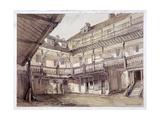 Courtyard of the Oxford Arms Inn, Warwick Lane, London, 1851 Giclee Print by Thomas Colman Dibdin
