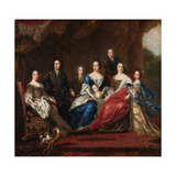 The Family of Charles XI of Sweden with Relatives from the Duchy of Holstein-Gottorp, 1691 Giclee Print by David Klöcker Ehrenstrahl