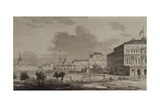 Moscow Kremlin before the Construction of the Grand Kremlin Palace, 1817 Giclee Print by Maxim Nikiphorovich Vorobyev