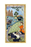 Miniature from Yusuf and Zalikha (Legend of Joseph and Potiphar's Wif) by Jami, Ca 1683-1685 Giclee Print