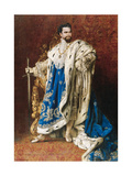 Ludwig II as the Grand Master of the Order of the Knights of St George, 1887 Giclee Print by Gabriel Schachinger