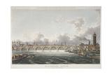 View of Blackfriars Bridge from the Strand Bridge, London, 1815 Giclee Print by Thomas Hosmer Shepherd