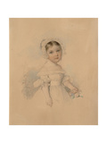 Portrait of Countess Alexandra Alexandrovna Golitsyna (1823-191), Mid 1820S Giclee Print by Pyotr Fyodorovich Sokolov