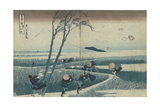 Ejiri in the Suruga Province (From the Series Thirty-Six Views of Mt Fuj), C. 1830 Giclee Print by Katsushika Hokusai