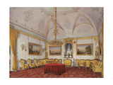 Interiors of the Winter Palace, the Third Reserved Apartment, the Drawing Room, 1872 Giclee Print by Eduard Hau