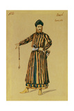 Costume Design for the Opera Prince Igor by A. Borodin, 1890 Giclee Print by Evgeni Petrovich Ponomarev
