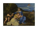 The Virgin and Child with the Young Saint John the Baptist (The Aldobrandini Madonna), Ca 1532 Giclee Print by  Titian (Tiziano Vecelli)