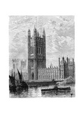 The Victoria Tower and the Houses of Parliament, London, 1900 Giclee Print
