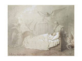Alexander III on His Deathbed Surrounded by Angels, 1895 Giclee Print by Mihaly Zichy