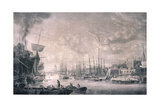 View of London from the East, 1793 Giclee Print by Robert Dodd
