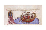 Thomas the Slav Flees to the Arabs (Miniature from the Madrid Skylitze), 11th-12th Century Giclee Print