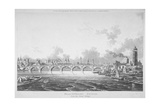 View of Blackfriars Bridge from the Strand Bridge, London, 1815 Giclee Print by Thomas Hosmer Shepherd