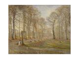 Late Autumn Day in the Jægersborg Deer Park, North of Copenhagen, 1886 Giclée-tryk af Theodor Philipsen