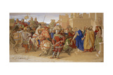 The Knights of the Round Table About to Depart in Quest of the Holy Grail, 1849 Giclee Print by William Dyce