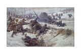 Partisans Fighting Against the German Punitive Expedition on 1942, 1942 Giclée-Druck von Ivan Vassilyevich Vladimirov