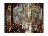 The Parable of the Wedding Feast, 1737 Giclee Print by Johann Georg Platzer