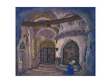 In the Monastery. Stage Design for the Opera Sister Beatrice by A. Davydov, 1914 Giclee Print by Nicholas Roerich