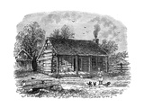 The Early Home of Abraham Lincoln, Gentryville, Indiana, 19th Century Impression giclée