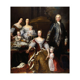 Augusta of Saxe-Gotha, Princess of Wales, with Members of Her Family and Household, 1739 Giclee Print by Jean Baptiste Van Loo