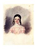 Portrait of Sofia Muravyova, Daughter of Decembrist Nikita Muravyov, 1833-1835 Giclee Print by Nikolai Alexandrovich Bestuzhev