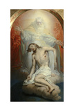 God the Father Lamenting over the Dead Christ Giclee Print by Vladimir Lukich Borovikovsky