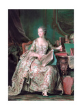 Full-Length Portrait of the Marquise De Pompadour (1721-176) Giclee Print by Maurice Quentin de La Tour
