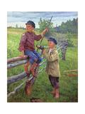 Country Boys, 1936 Giclee Print by Nikolai Petrovich Bogdanov-Belsky
