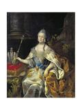 Portrait of Empress Catherine II (1729-179), 1766 Giclee Print by Alexei Petrovich Antropov