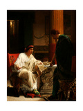 Vespasian Hearing from One of His Generals of the Taking of Jerusalem by Titus, 1866 Giclee Print by Lawrence Alma-Tadema