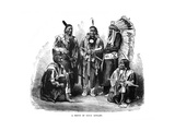 A Group of Sioux Indians, 1872 Giclee Print