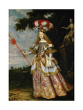 Margarita Teresa, Infanta of Spain (1651-167), in a Theatrical Costume, 1667 Giclee Print by Jan Thomas