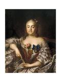 Portrait of Countess Varvara Alexeyevna Sheremetyeva (1711-176), Ca 1760 Giclee Print by Ivan Petrovich Argunov