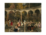 Bathing of Court Ladies in the 18th Century, 1888 Giclee Print by Francois Flameng