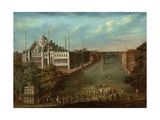 Procession of the Grand Vizier on the Hippodrome Square with the Sultan Ahmed Mosque, 1737 Giclee Print by Jean-Baptiste Vanmour