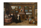 The Kunstkammer with a Married Couple and their Son, First Third of 17th C Giclee Print by Frans Francken the Younger