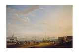 View of the Palace Square and Summer Garden from the Petersburg District, C. 1800 Giclee Print by Johann Georg Von Mayr