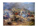 Attack of Polish Uhlans on Bolsheviks Near Sloutsk, 1919, 1920 Giclee Print by Leonard Winterowski